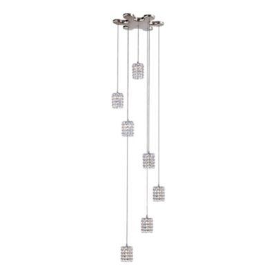 Bel Air 7-Light Flex Crystal Drop Pendant