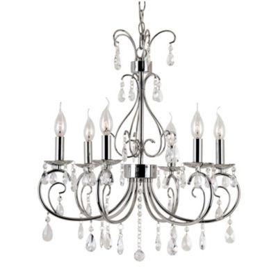 Bel Air Chic Nouveau 6-Light Chandelier