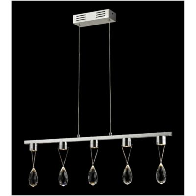 Bel Air Crystal Ice 5-Drop Light Pendant