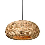 Water Hyacinth Bell Pendant Light