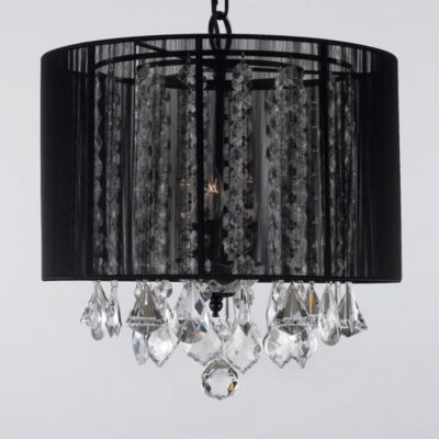 Gallery Crystal 3-Light Chandelier With Shade