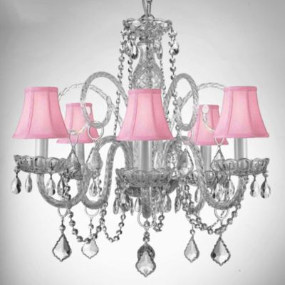 Style Crystal Chandelier with Shades