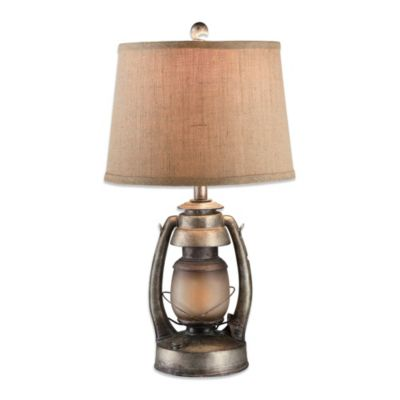 Crestview Collection Oil Lantern Table Lamp with Nightlight