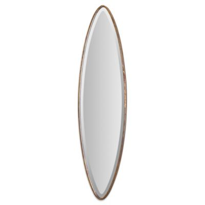 Uttermost Ovar 46-Inch Antiqued Wall Mirror in Gold