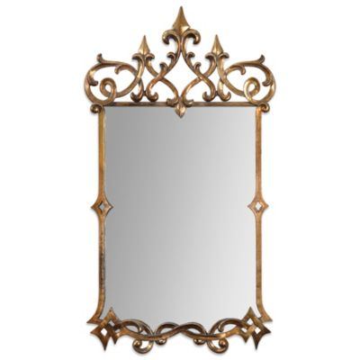 Uttermost Mirandela 37-Inch Antiqued Wall Mirror in Gold