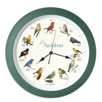 Audubon™ Singing Bird 13-Inch Wall Clock