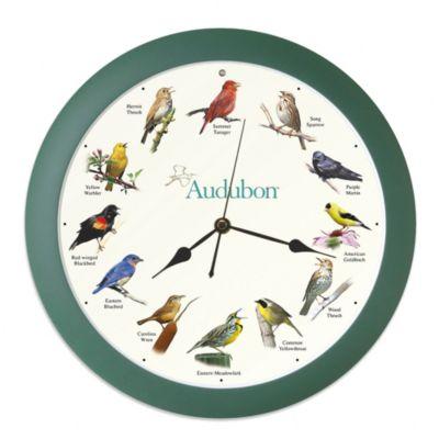 Audubon™ Singing Bird 8-Inch Wall Clock
