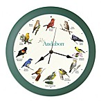 Audubon™ Singing Bird 8-Inch Wall Clock