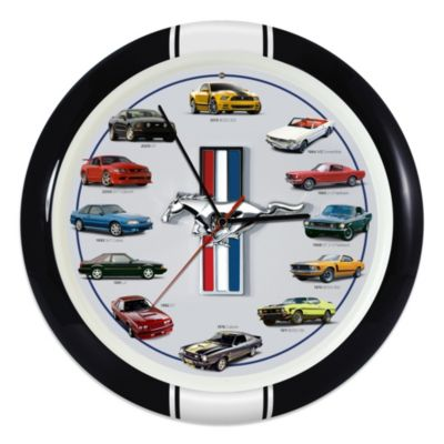 History of Mustang 13-Inch Sound Wall Clock