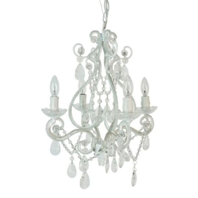 Tadpoles 4-Bulb Mini Chandelier in White Diamond