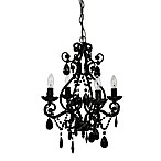 Tadpoles 4-Bulb Mini Chandelier in Black Onyx