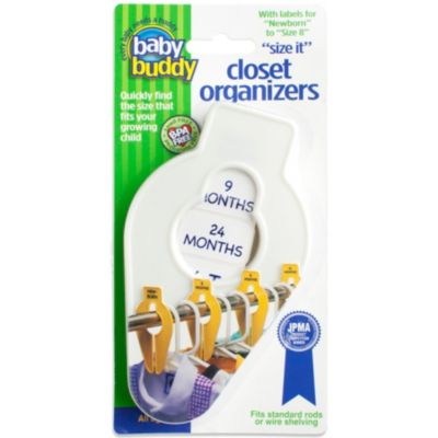 Baby Buddy® Size-It Closet Organizers in White (Set of 5)