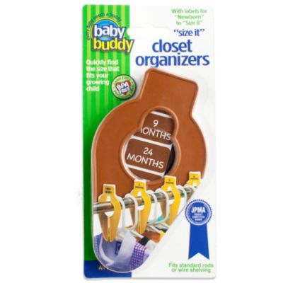 Baby Buddy® Size-It Closet Organizers in Chocolate (Set of 5)