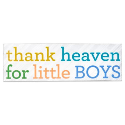 About Face Designs Thank Heaven for Little Boys Plaque