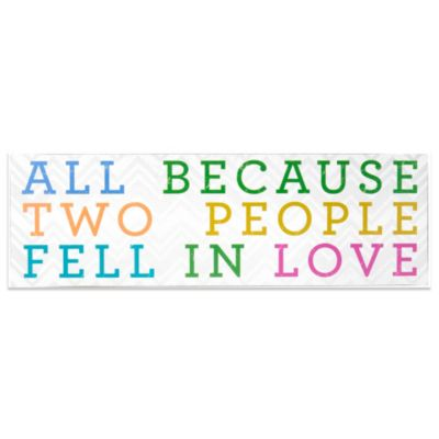 About Face Designs All Because Two People Fell In Love Plaque
