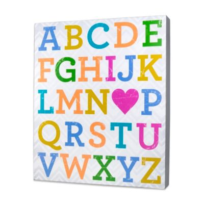 About Face Designs Alphabet Plaque
