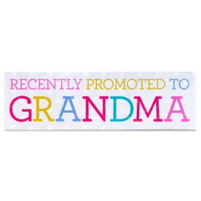 "About Face Designs ""Recently Promoted To Grandma"" Plaque"