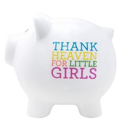 About Face Designs Thank Heaven for Little Girls Large Ceramic Piggy Bank