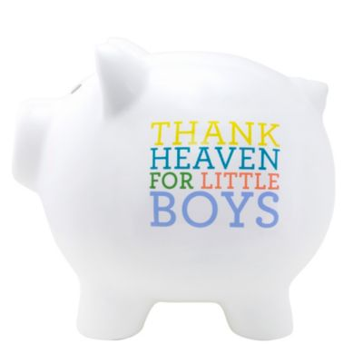 About Face Designs Thank Heaven for Little Boys Large Ceramic Piggy Bank
