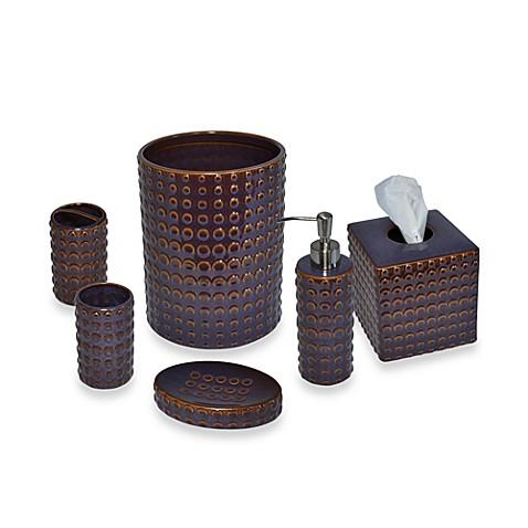 Parker loft dawson ceramic bathroom accessories in plum for Plum bathroom accessories