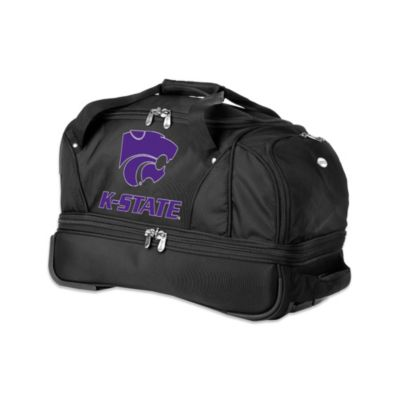 Kansas State University 22-Inch Drop Bottom Wheeled Duffel Bag