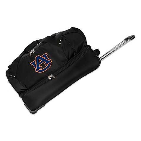 Auburn University 27-Inch Drop Bottom Wheeled Duffel Bag