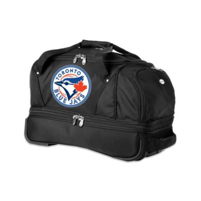 MLB Toronto Blue Jays 22-Inch Drop Bottom Wheeled Duffel Bag