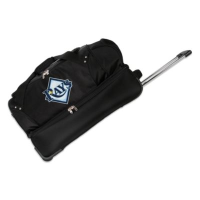 MLB Tampa Bay Rays 27-Inch Drop Bottom Wheeled Duffel Bag