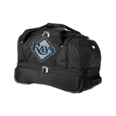 MLB Tampa Bay Rays 22-Inch Drop Bottom Wheeled Duffel Bag