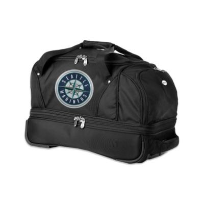 MLB Seattle Mariners 22-Inch Drop Bottom Wheeled Duffel Bag