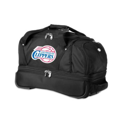 NBA Los Angeles Clippers 22-Inch Drop Bottom Wheeled Duffel Bag