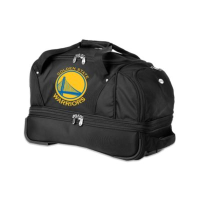 NBA Golden State Warriors 22-Inch Drop Bottom Wheeled Duffel Bag