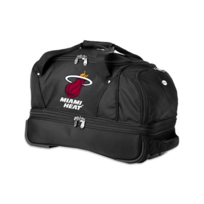 NBA Miami Heat 22-Inch Drop Bottom Wheeled Duffel Bag