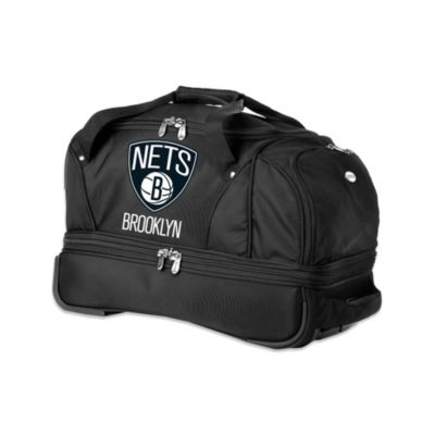 NBA Brooklyn Nets 22-Inch Drop Bottom Wheeled Duffel Bag