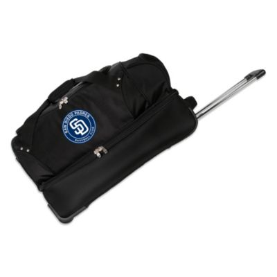 MLB San Deigo Padres 27-Inch Drop Bottom Wheeled Duffel Bag