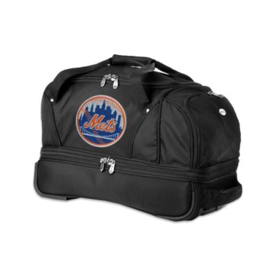 MLB New York Mets 22-Inch Drop Bottom Wheeled Duffel Bag