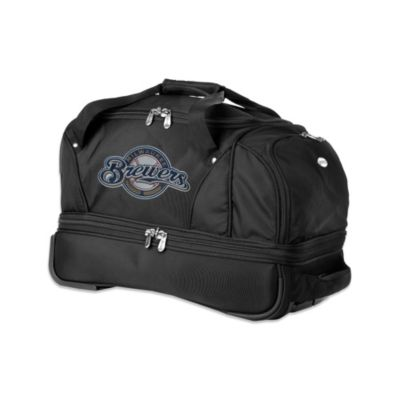 MLB Milwaukee Brewers 22-Inch Drop Bottom Wheeled Duffel Bag