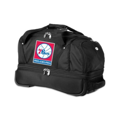 NBA Philadelphia 76ers 22-Inch Drop Bottom Wheeled Duffel Bag