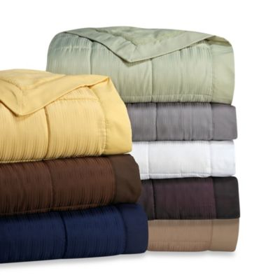 The Seasons Collections® Down Alternative Twin Blanket in Tan