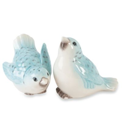 Edie Rose by Rachel Bilson Bloom Bluebird Salt and Pepper Shakers