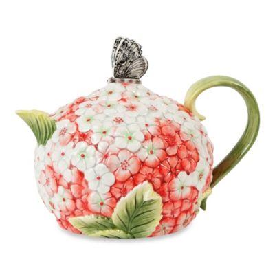 Edie Rose Hydrangea Teapot