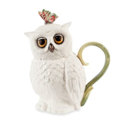 Edie Rose by Rachel Bilson Hydrangea Owl Teapot