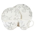 Edie Rose by Rachel Bilson Hydrangea Dinnerware Collection in Black and White