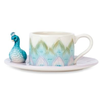 Edie Rose by Rachel Bilson Peacock Cup and Saucer