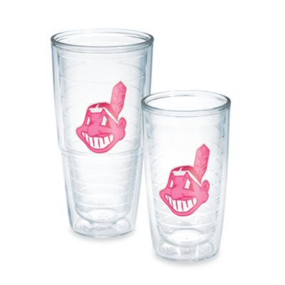 Tervis® MLB Cleveland Indians Emblem 10-Ounce Tumbler in Neon Pink