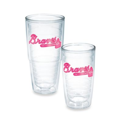 Tervis® MLB Atlanta Braves Emblem 10-Ounce Tumbler in Neon Pink