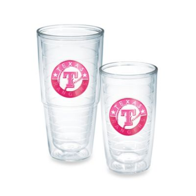 Tervis® MLB Texas Rangers Emblem 16-Ounce Tumbler in Neon Pink