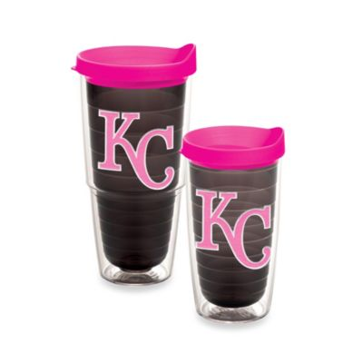 Tervis® MLB Kansas City Royals Emblem 24-Ounce Tumbler with Lid in Quartz/Neon Pink