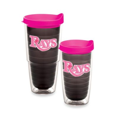 Tervis® MLB Tampa Bay Rays Emblem 16-Ounce Tumbler with Lid in Quartz/Neon Pink