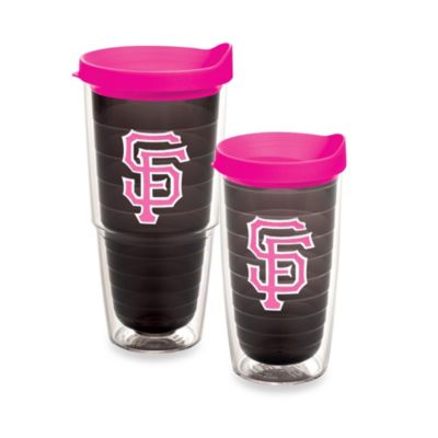 Tervis® MLB San Francisco Giants Emblem 16-Ounce Tumbler with Lid in Quartz/Neon Pink